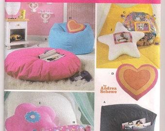 Teen Room Accessories Simplicity 5105 Throw Pillows Bean Bag Chair Floor Pillow Square Ottoman Neck Bolster Pillow Home Decor