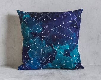 Galaxy Stars Pillow Cover, Pillow Covers, Throw Pillow, Cushion Cover, Decorative Pillow Cover, Cushion Cover, Gift, Christmas Gift Idea