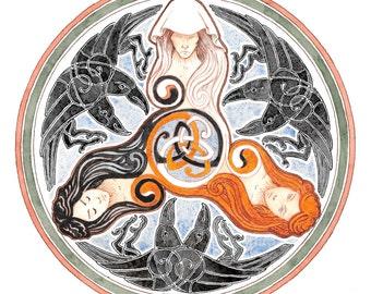 The Morrigan Triple Goddess Celtic Spiral
