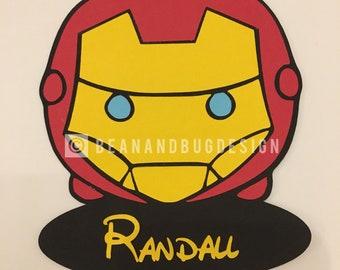 "PERSONALIZED ""Iron Man"" Tsum Tsum Magnet"