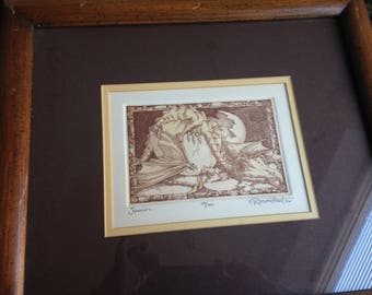 Ltd. Ed. Etching: Baby Dragon Hatching