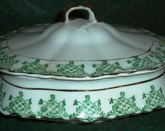K T and K  Knowles Taylor and Knowles Antique covered Vegetable
