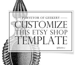 Design Service - Etsy Shop Set Template Customization - Editing Template Customize Template Edit Templates Graphic Design Etsy Banner Set