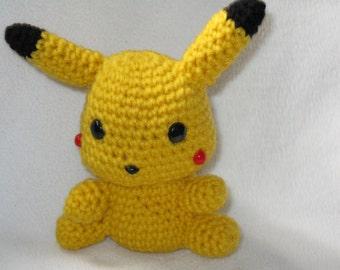 Chibi Pikachu amigurumi plush