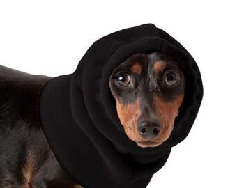 DACHSHUND Dog Hood, Dog Hat, Fleece Dog Snood, Winter Hat, Dog Neck Warmer, Dog Ear Warmer, Dog Scarf, Accessories for dogs, Dog clothing,