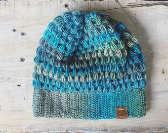 Sky blue slouchy hat