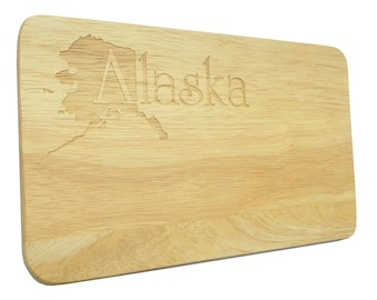 Brotbrett Alaska USA Engraving Breakfast Board Wood-Breakfast Board-engraving