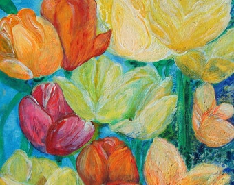 Tulips in the Night