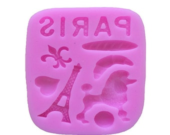 Paris Themed Silicone Mold