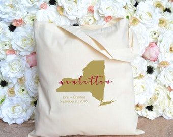 New York State - Manhattan - Buffalo - Staten Island - Destination Wedding Welcome Tote