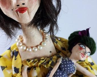 Magda and Doll OOAK Art Dolls