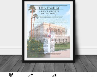 LDS Family Proclamation, Mormon, Picture, Wall Art, Gift, Photo, Color, Black and White - Custom Digital Print - Printable with your photo