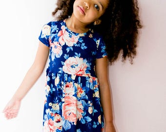 Nilah Dress, Girls Pattern, PDF Patterns, Knit, Sleeves, Sleeveless, PDF, Girls Dress Pattern, girls dress, high-low hem dress