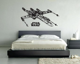 New Star Wars X-Wing Starfighter Wall Decal Wall Stickers Large 116 cm X 58 cm