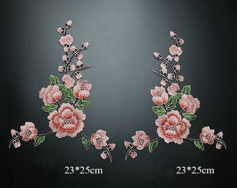 Big Floral Appliques, Embroidery Patches