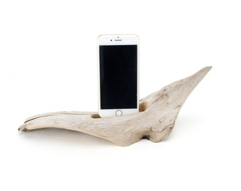 Docking Station for iPhone, iPhone dock, iPhone Charger, iPhone Charging Station, iPhone driftwood dock, wood iPhone dock/ Driftwood-No.1034