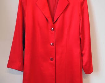 Scarlett Satin button up Jacket/ SILK