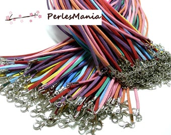 10 mulitcolores H025 (random color) suede cord necklaces
