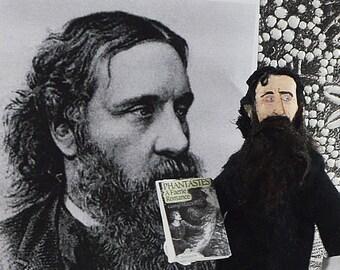 George MacDonald Scottish Author Doll in Miniature Classic Literature Writer