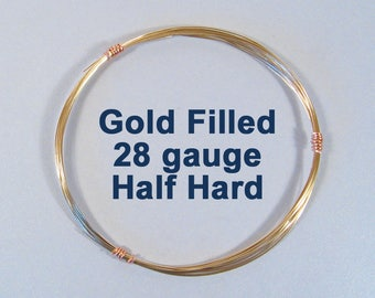 28ga HH Gold Filled Wire - Half Hard - Choose Your Length