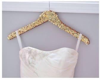 sequin hanger, bridal hanger, glitter hanger, sparkle hanger, bridesmaid hanger, gold hanger, silver hanger, bride hanger,bridesmaids hanger