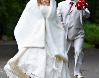 Bridal Wrap Shawl Stola Of Foax Mol  Fur