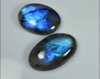 Set of gorgeous Labradorite with iridescent colors