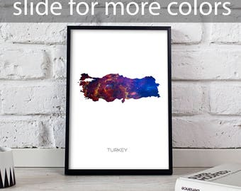 Turkey poster Turkey art Turkey Map poster Turkey print wall art Turkey wall decor Gift poster