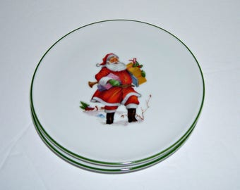 2 Vintage Christmas Santa Claus Coasters West Germany