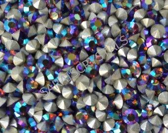 100 pcs Swarovski Crystal Rhinestones Pointed Back Chatons Smoked Topaz AB 20pp (ss9) 2.6 - 2.7mm PP20 1028 Xilion