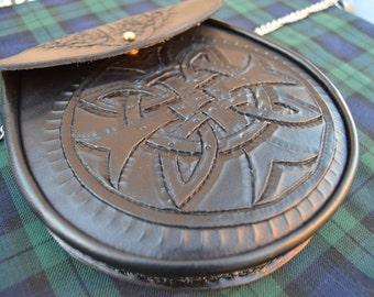 Stunning Hand Crafted Iona Cross Scottish Sporran.