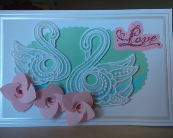 Swans Wedding Greeting Card