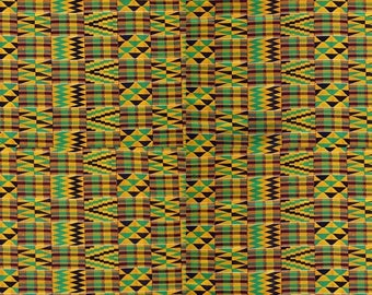"4 Pack Of Smaller Scale 6""x6"" Pieces - Mawenzi Kente Cloth Premium Patterned Vinyl Vibrant Vinyl™ - Adhesive Vinyl + HTV, Kente Vinyl"