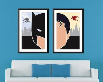 DC Minimalist: Batman & Superman Set