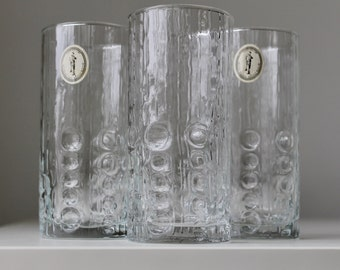 Italglass Corp Glassware, Italglass Souffle Bouche Glass, Italian Glass, Iittala Flora, Mid-Century Modern Glassware, Vintage Modern Glasses
