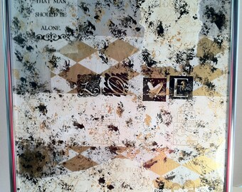 JR324 Love Mixed Media Collage