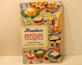 Vintage Knudsen Recipes Cook Book Cookbooklet Knudsen Dairy Vintage Advertising 1950s