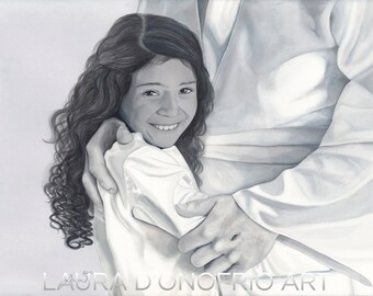 Daughter of a King- Watercolor Giclee Print, Christian Artwork by Laura D'Onofrio