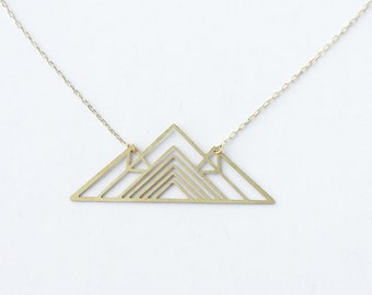 Geometric Mountain Necklace | ATL-N-126
