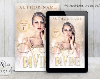 "Premade Digital eBook Book Cover Design ""Divine"" YA Paranormal Romance Young New Adult Fantasy Angels Fiction"