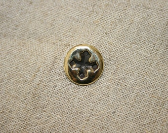 Brass Tie Tacks, Lapel Pin, Brass Cross Lapel Pin,Handmade Brass Lapel Pin , Statement Jewelry, Brass and Silver Lapel Pin,