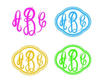 Master Circle Monogram, Font SVG ,Cut file in SVG, Cdr and Dxf, Instant downlod , Circut and Silhouette