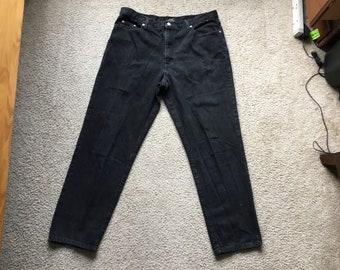 Men's Vintage 90s Guess Black Jeans Size 40X32