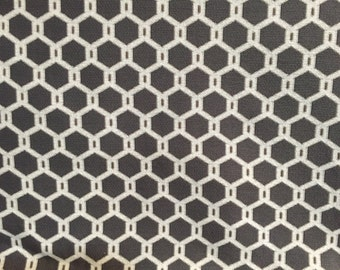 Grey Honeycomb Pattern - Upholstery Fabric by the Yard