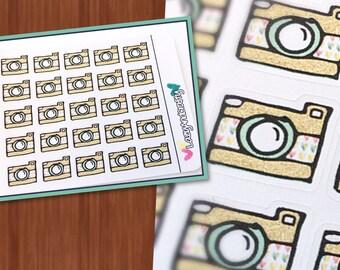 Camera Stickers - Planner Stickers - Erin Condren, Happy Planner, Filofax, and more!