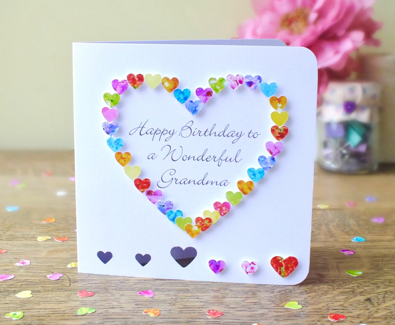 Grandma birthday card handmade personalised birthday card zoom bookmarktalkfo