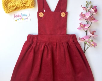 Ava Pinafore dress corduroy (Pinny dress)