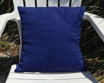"""Blue Pillow Cover 18"""" x 18"""", Nautical Pillow Cover, Outdoor Pillow, Nautical Pillow, Ocean Theme, Pillow Cases, Beach Cushion, Ocean Decor"""