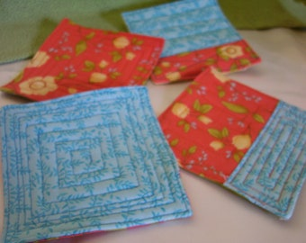 Coasters set of 4 My Blue Heaven