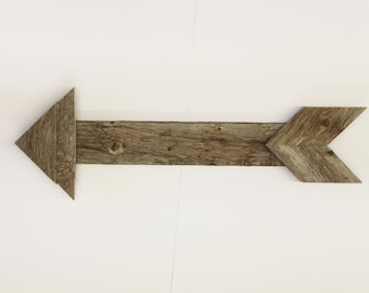 Reclaimed Wood Arrow Unfinished With Name